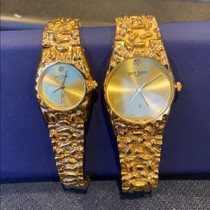 Accessories - Pierre Bideaux His and Hers Nugget Watches